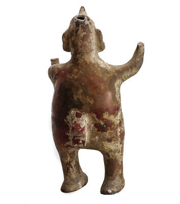 Large Pre-Columbian Pottery COLIMA  Standing male figure with staff 4