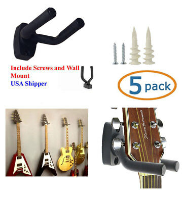 5-PACK Guitar Hanger Hook Holder Wall Mount Display Acoustic Electric, GRAK-Q5