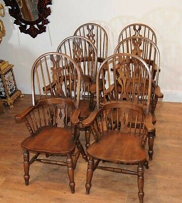 Set 6 Windsor Arm Chairs Armchairs Oak Farmhouse 5 • £2,400.00