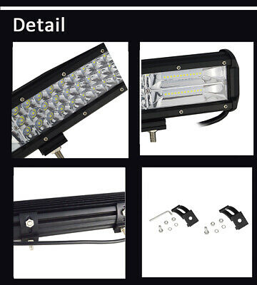 Tri-Row 14'' 17'' 20'' 23''inch Combo LED Work Light Bar for Jeep Truck Boat CA 7
