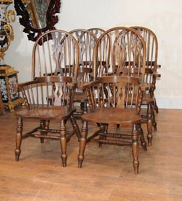Set 6 Windsor Arm Chairs Armchairs Oak Farmhouse 7 • £2,400.00