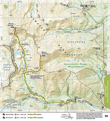 COLORADO 14ERS TOPOGRAPHIC Trail Map Guide Set National Geographic on