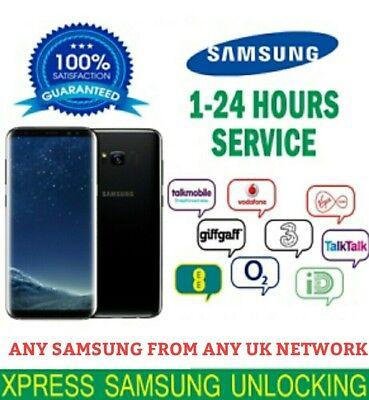 Unlock Code Samsung Galaxy Note 10 S9 S8 Plus S9 Plus S10 S10E O2 Ee Vodafone Bt 4
