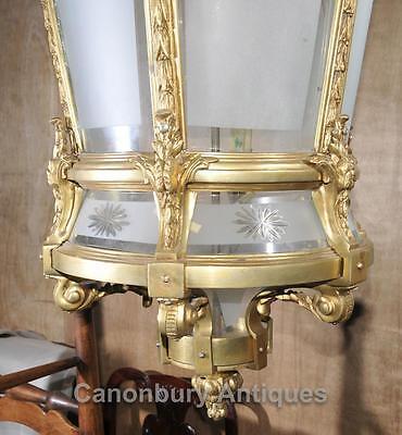 XL French Empire Ormolu Lantern Light Chandelier Interiors Lighting 11