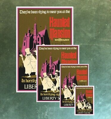 Disney World Haunted Mansion - Collector Poster 4 Different Sizes  (B2G1 Free!!) 3