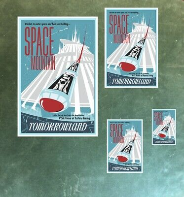 Tomorrowland Space Mountain Astronauts - Collector Poster 4 Sizes  (B2G1 Free!!) 2