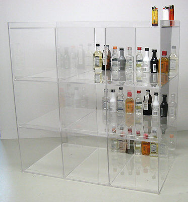 commercial display case mini sampler 50ml liquor and shot bottles