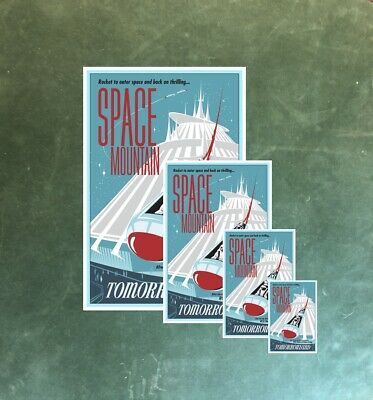 Tomorrowland Space Mountain Astronauts - Collector Poster 4 Sizes  (B2G1 Free!!) 3