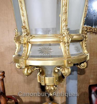 XL French Empire Ormolu Lantern Light Chandelier Interiors Lighting 12