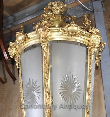 XL French Empire Ormolu Lantern Light Chandelier Interiors Lighting 3