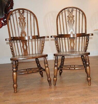 Set 6 Windsor Arm Chairs Armchairs Oak Farmhouse 6 • £2,400.00