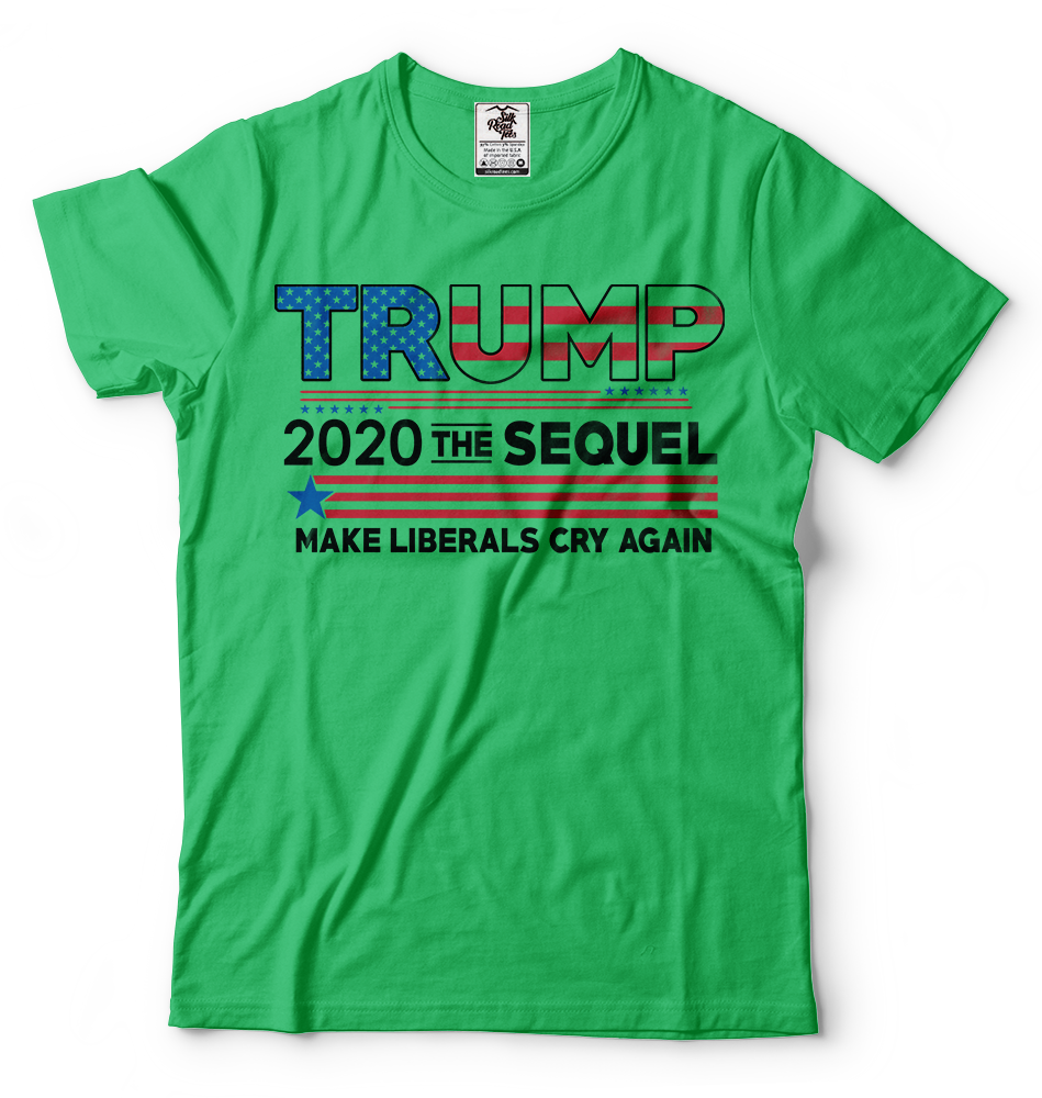 Donald Trump President T-shirt Funny 2020 Elections Make Liberals Cry Again Tees 4