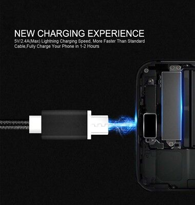 FAST CHARGING Android Charger Micro USB Cable Premium Braided Samsung Galaxy 6 7 4