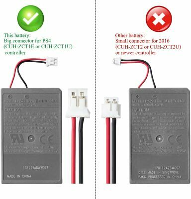 2x Rechargeable Battery For PS4 Controller 2000mAh Replacement & Charging Cable 2