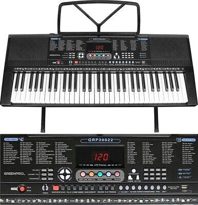 GreenPro 61 Key Portable Electronic Piano Keyboard LED Display 3
