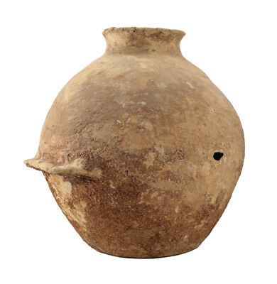 Large Holy Land Early Bronze Age Pottery VESSEL with dual handles 2