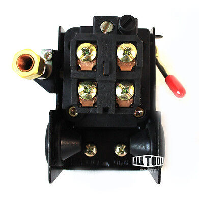Lefoo Quality Air Compressor Pressure Switch Control 95-125 PSI 4 Port w/ Unload