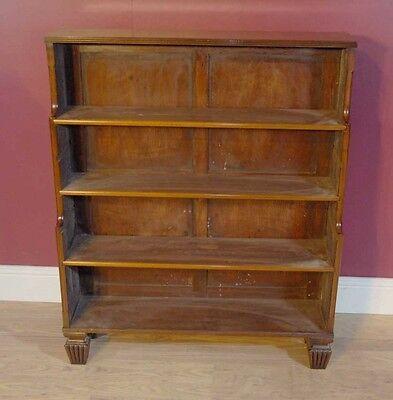 Pair English Regency Open Book Cases Bookcase Mahogany