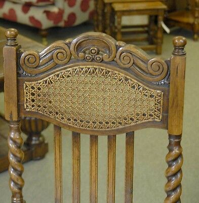 8 English William Mary Rustic Dining Chairs Barley Twis 12