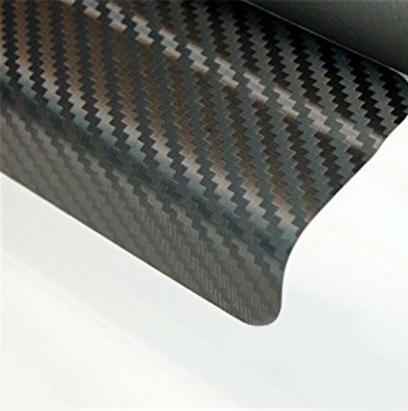 4Pcs 3D Carbon Fiber Black Car Door Sill Scuff Plate Cover Anti Scratch Sticker 9