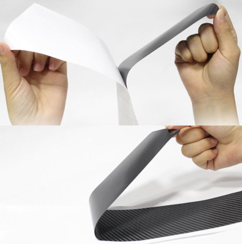 4pcs Car Accessories Door Sill Scuff Welcome Pedal Protect Carbon Fiber Sticker 6