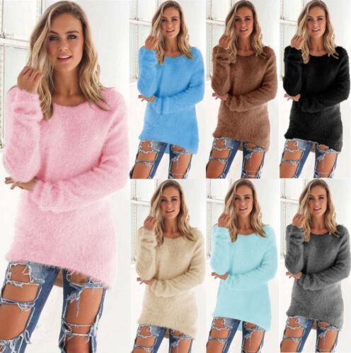 Vestito Abito Donna Maglione Lungo Pullover Felpa Cardigan Vestiti Top S-XXXL 4