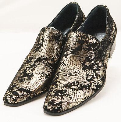 CK1479 Chris Kaadu Men Dress Comfort Shoe Loafer Black