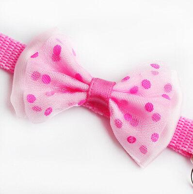 Pet Bowknot Necktie Collar Cute Bow Tie Bell Kitten Puppy Adjustable Dog Cat SL 10