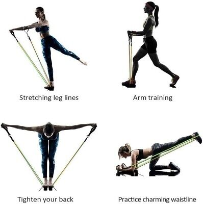 Resistance bands Set Workout with Handles Heavy Tube Exercise Fitness Gym 11PCs 9