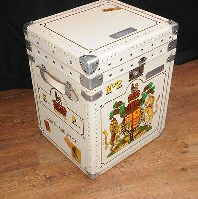Pair Leather Trunks Luggage Boxes Coffee Tables Side 5
