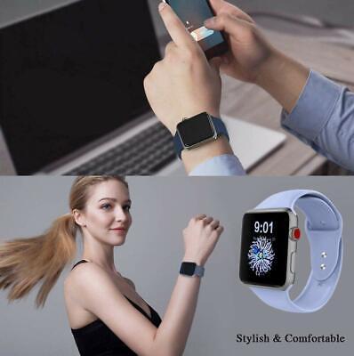 Sports Silicone Bracelet wrist band F Apple Watch Series 5 4 3 2 1-38 40 42 44mm 8