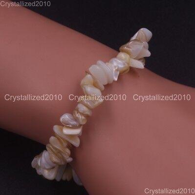 Handmade 5-8mm Mixed Natural Gemstone Chip Beads Stretchy Bracelet Healing Reiki 10