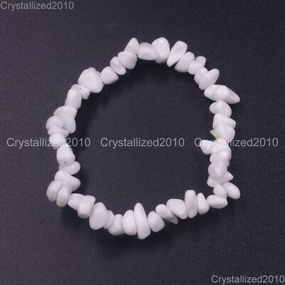 Handmade 5-8mm Mixed Natural Gemstone Chip Beads Stretchy Bracelet Healing Reiki 12