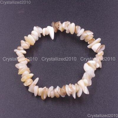 Handmade 5-8mm Mixed Natural Gemstone Chip Beads Stretchy Bracelet Healing Reiki 11