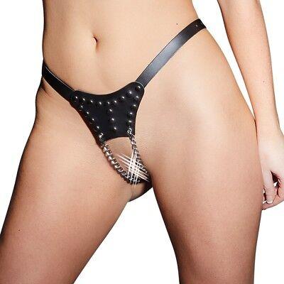Perizoma in pelle e metallo Leather String Zado Sexy Bondage Fetish BDSM CUOIO