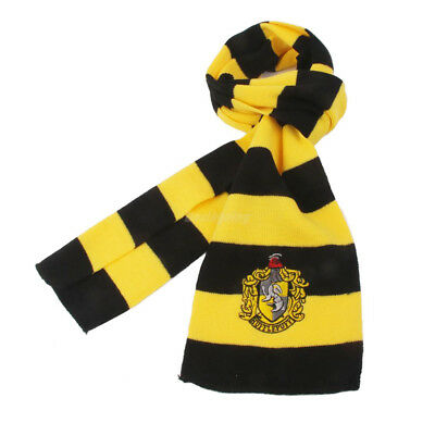 Harry Potter Vouge Hufflepuff House Cosplay Knit Wool Costume Scarf Wrap 3