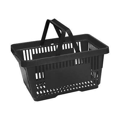 Plastic Shopping Basket 6 Colours 1, 2, 5 & 10 Pack - 20 Litre Plastic Baskets 6