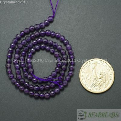 "Grade A Natural Amethyst Gemstone Round Beads 2mm 3mm 4mm 6mm 8mm 10mm 12mm 16"" 2"