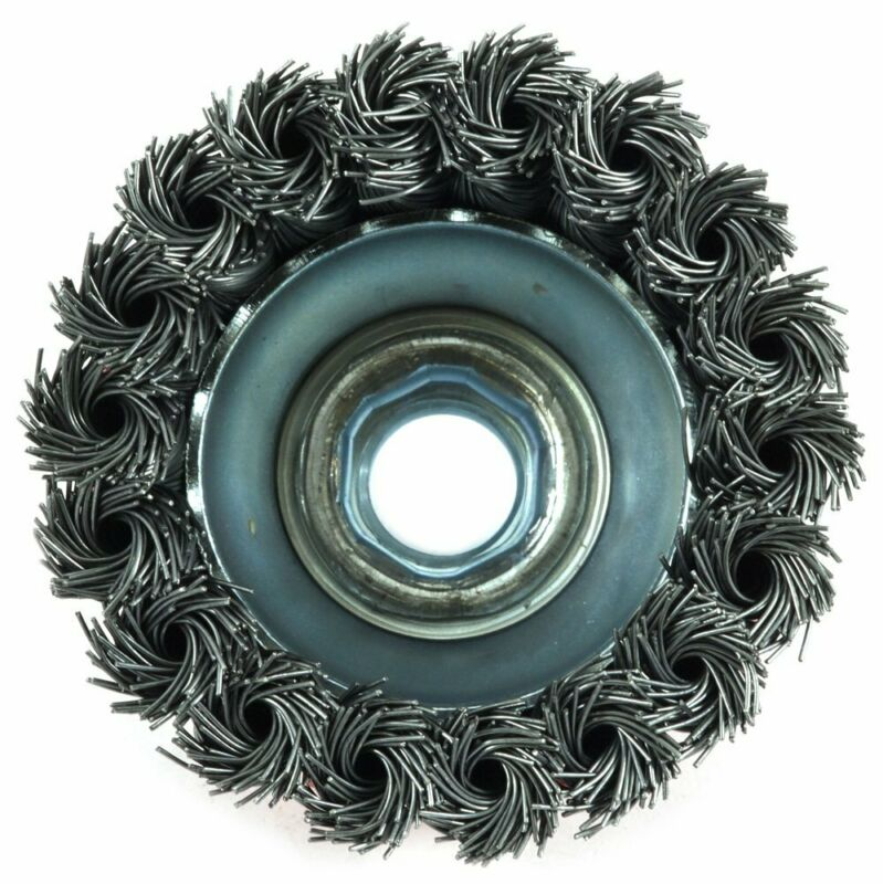 Forney 72757 Wire Cup Brush, Knotted With 5/8-Inch-11 Threaded Arbor, 2-3/4-Inch 3
