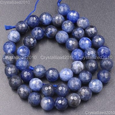 "Natural 6mm,8mm,10mm Sodalite Jasper Round Gemstone Beads 15""AAA##MJ022"