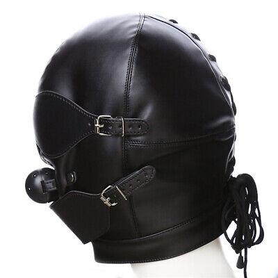 Sex Maske Fetisch Leder Mund Slave Ball Gag Erotische Produkt Spielzeug Bondage 5