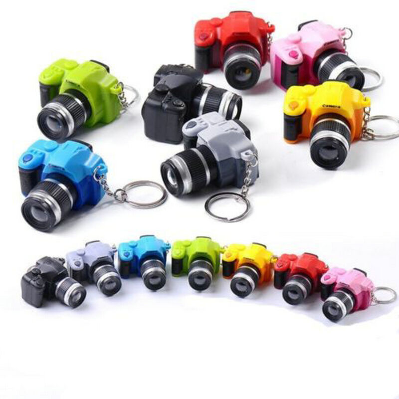 Hot Sale Camera With Flash Light Lucky Cute Charm LED Luminous Keychain New Gift 3