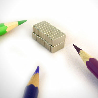 20 super MAGNETI potenti 10x5x2 magnete CALAMITA NEODIMIO calamite per FIMO 4