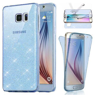 Housse Etui Coque Tpu Avant+Arriere 360° Bling Paillettes Pour Samsung Au Choix 4