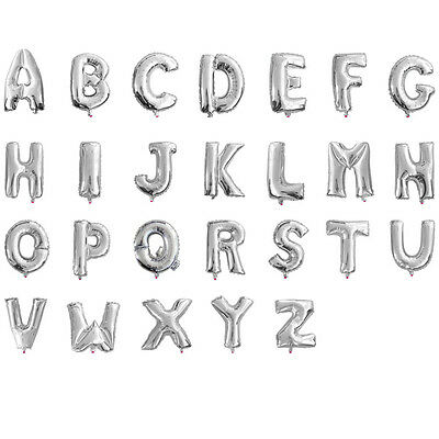 16 40 silver gold mylar letter balloons prom party balloon alphabet decoration 5