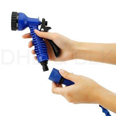 Deluxe 25 50 75 100 Feet Expandable Flexible Garden Water Hose w/ Spray Nozzle 5