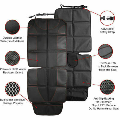 Car Seat Protector Thickest Padded Waterproof Back Seat Organizer Kick Mat Cover 4