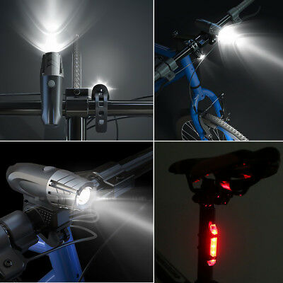 Rechargeable LED Bike Bicycle Light USB Waterproof Cycle Front Back Headlight 4