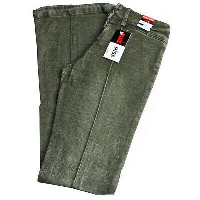 Damen Stretch Jeans Jeanshose mit Schlag Hose lang Blue Miss Gr.40  W31 grün Ton