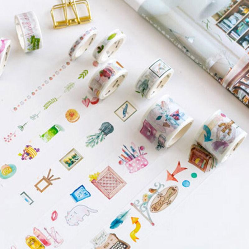 10Rolls/pack Washi Tape DIY Decorative Scrapbooking Paper Adhesive Sticker Craft 3